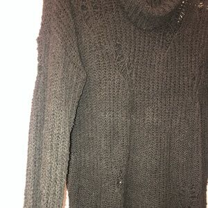 Express Sweaters - Distressed oversized sweater